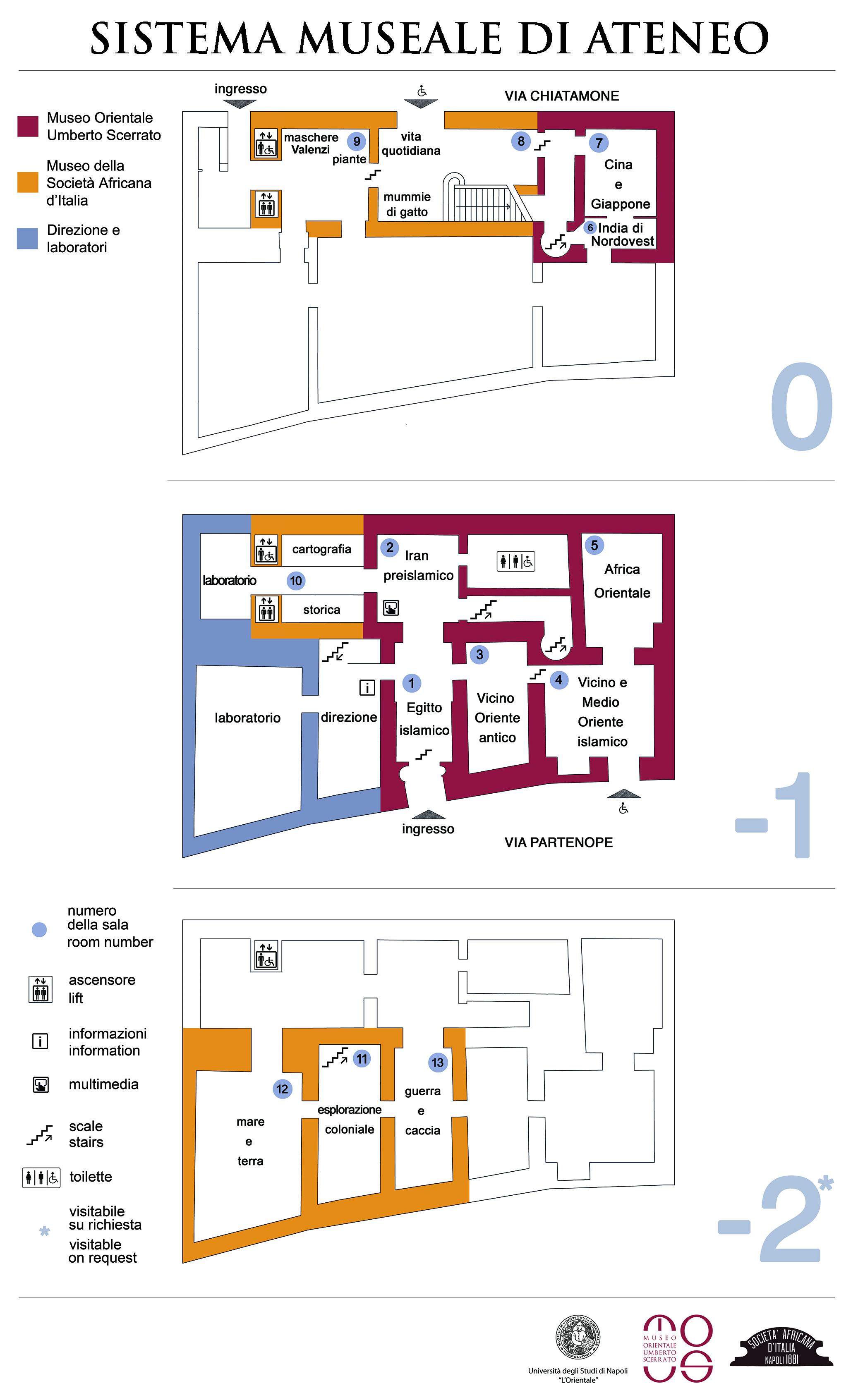 Planimetria Sistema Museale di Ateneo